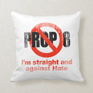 ANTI PROP 8 - Straight against Hate Faded.png Pillows