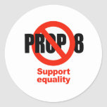 ANTI PROP 8 - Support Equality Classic Round Sticker