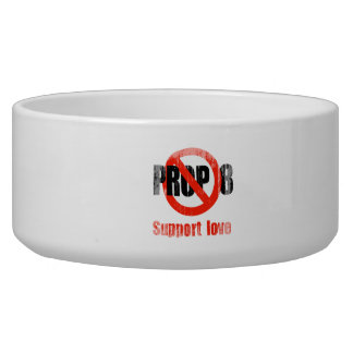 ANTI PROP 8 - Support Love Faded.png Dog Bowl