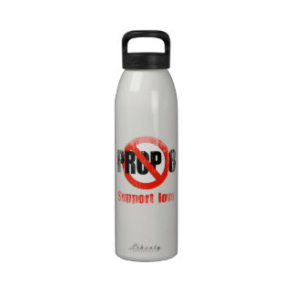 ANTI PROP 8 - Support Love Faded.png Water Bottles