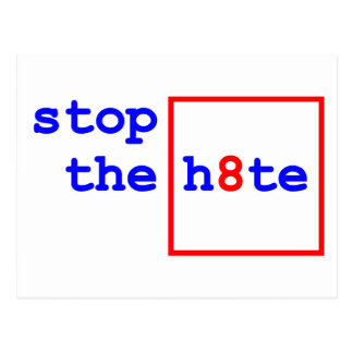 Anti-Proposition 8: stop the h8te Postcard