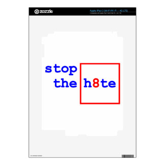 Anti-Proposition 8: stop the h8te Skin For iPad 3