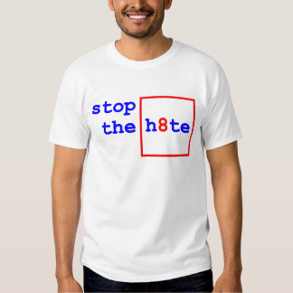 Anti-Proposition 8: stop the h8te Tee Shirt