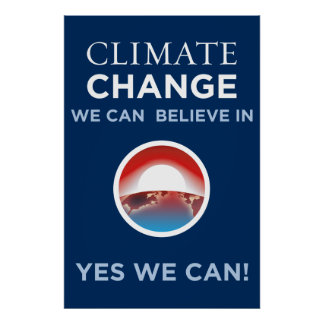 Anti-Protest Climate Change - Obama Parody Poster