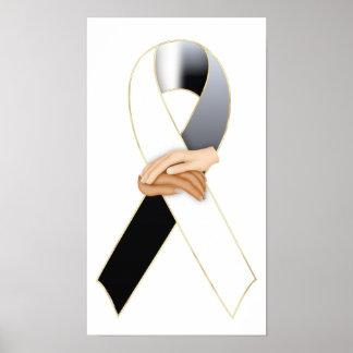 Anti Racism Awareness Ribbon Print