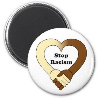 Anti racism handshake  logo magnet