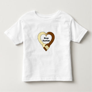 Anti racism handshake logo toddler shirt