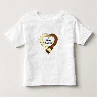 Anti racism handshake logo toddler shirt