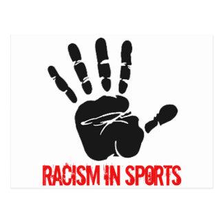 Anti-racism  in sports designs postcard