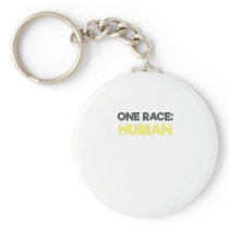 Anti Racism One Race Human All Lives Matter Keychain