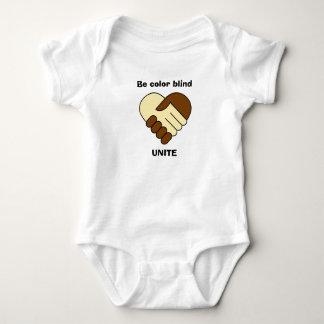 Anti racism theme baby shirt