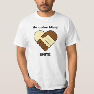 Anti racism theme man's shirt