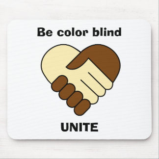 Anti racism theme mouse pad