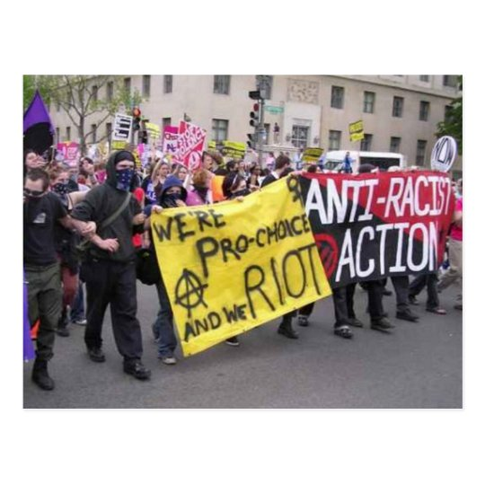 anti-racist action post card