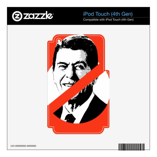 ANTI-REAGAN iPod TOUCH 4G DECALS