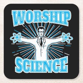 Anti-Religión divertida del friki y del ateo de la Posavasos Desechable Cuadrado