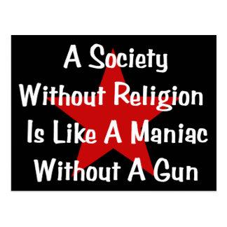 Anti-Religion Quote Postcard