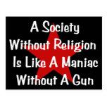 Anti-Religion Quote Postcards
