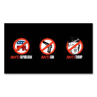 Anti-Republican Anti-Gun Anti-Trump - - .png Business Card Magnet