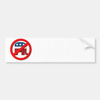 Anti-Republican- Fight the Right Bumper Sticker