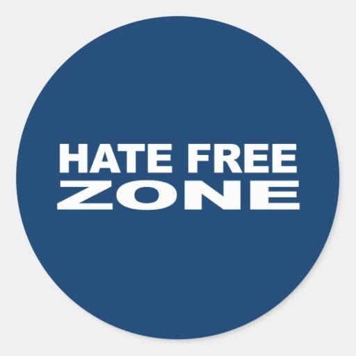 Anti-Republican - Hate Free Zone 2 Classic Round Sticker