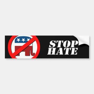Anti-Republican - Stop Hate Car Bumper Sticker
