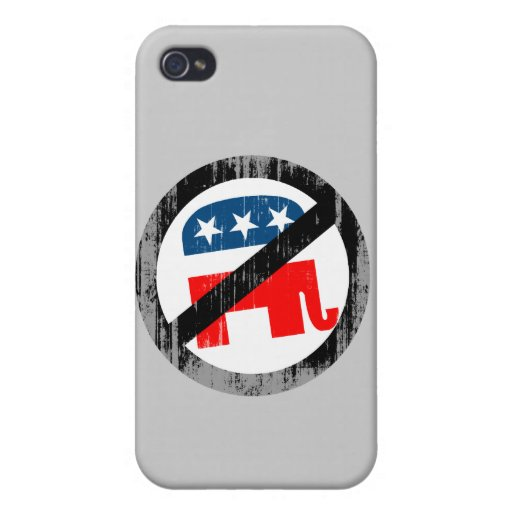 Anti-Republican white Faded.png iPhone 4 Covers