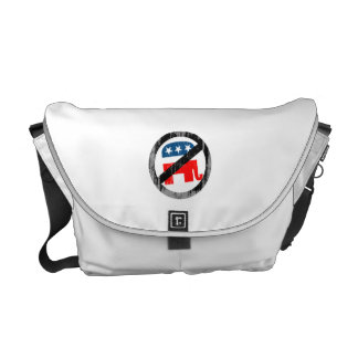 Anti-Republican white Faded.png Messenger Bags