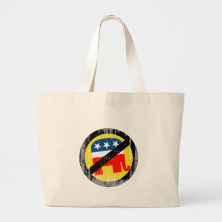 Anti-Republican yellow Faded.png Canvas Bags