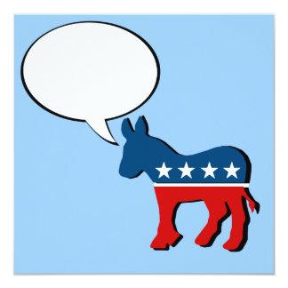 """Anti-Republican - You betcha 2012 5.25"""" Square Invitation Card"""