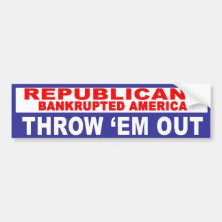 Anti-Republicano - América arruinada Etiqueta De Parachoque