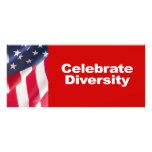 """Anti-Republicano - celebre la diversidad Folleto Publicitario 4"""" X 9"""""""