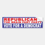 Anti-Republicano -   el cerebro Fart fiesta Pegatina De Parachoque