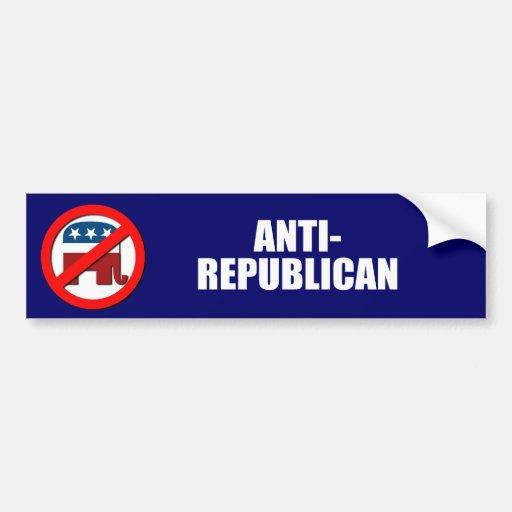Anti-Republicano Etiqueta De Parachoque
