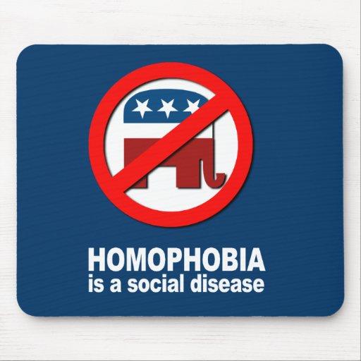 Anti-Republicano - la homofobia es una enfermedad  Alfombrillas De Ratones