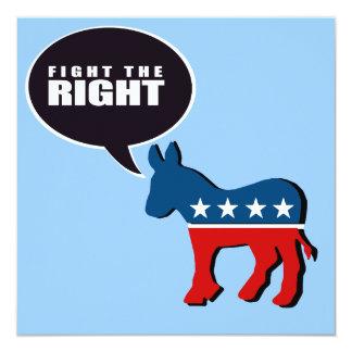 """Anti-Republicano - luche la derecha Invitación 5.25"""" X 5.25"""""""