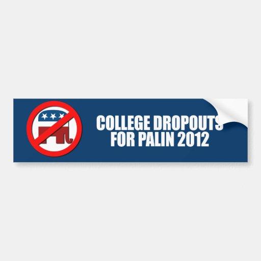 Anti-Republicano - salidas de universidad para Pal Pegatina De Parachoque
