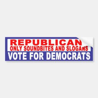 Anti-Republicano -   Soundbites y lemas Pegatina Para Auto
