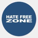 Anti-Republicano - zona franca 2 del odio Etiquetas Redondas