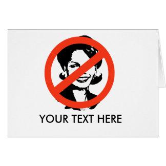 ANTI-RICE: ANTI-Condi Rice Greeting Card
