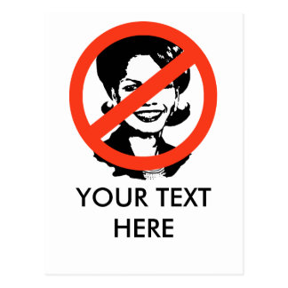 ANTI-RICE: ANTI-Condi Rice Post Cards