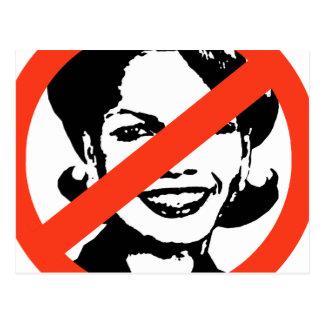ANTI-RICE: ANTI-Condi Rice Postcard