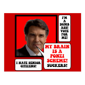 anti Rick Perry Post Cards