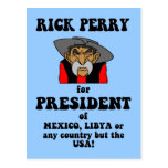 anti Rick Perry Postcard