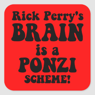 anti Rick Perry Square Sticker