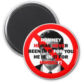 anti Romney 2 Inch Round Magnet