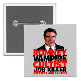 anti Romney Pinback Buttons