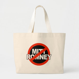 Anti Romney Cross Circle -.png Canvas Bags