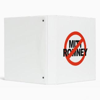 Anti Romney Cross Circle.png Vinyl Binder