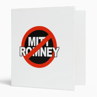 Anti Romney Cross Circle -.png Vinyl Binder